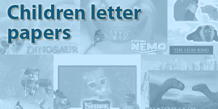 Children Letter Papers